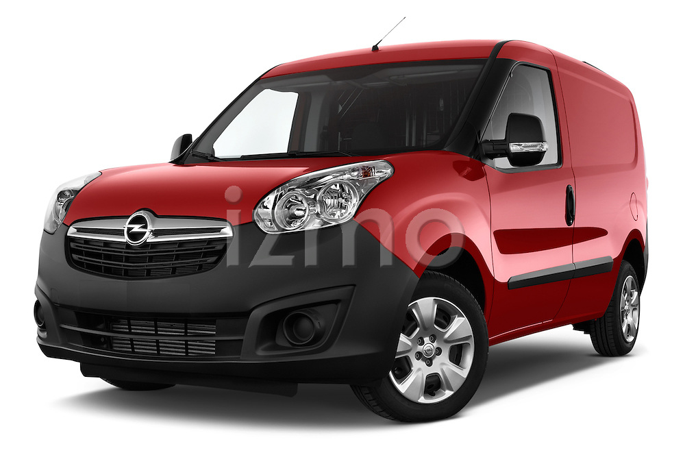 Stock pictures of low aggressive front three quarter view of a 2015 Opel COMBO LiHI 4 Door Cargo Van 2WD Low Aggressive