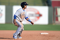 Salt River Rafters outfielder Kenny Wilson (12), of the Toronto Blue Jays organization, during an Arizona Fall League game against the Surprise Saguaros on October 14, 2013 at Surprise Stadium in Surprise, Arizona.  Salt River defeated Surprise 3-2.  (Mike Janes/Four Seam Images)