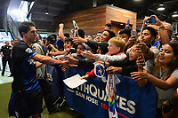 San Jose, CA - Monday July 10, 2017: Shea Salinas, fans after a U.S. Open Cup quarterfinal match between the San Jose Earthquakes and the Los Angeles Galaxy at Avaya Stadium.