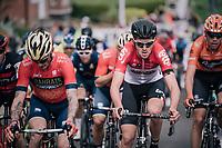 Tiesj Benoot (BEL/Lotto-Soudal) in the mix<br /> <br /> 58th De Brabantse Pijl 2018 (1.HC)<br /> 1 Day Race: Leuven - Overijse (BEL/202km)