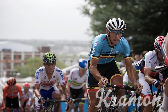 Philippe Gilbert (BEL/BMC) up 23rd street<br /> <br /> Elite Men Road Race<br /> UCI Road World Championships Richmond 2015 / USA