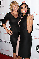 """HOLLYWOOD, CA - JANUARY 14: Zoe Bell, Rosario Dawson at the Los Angeles Screening of Roadside Attractions & Day 28 Films' """"Gimme Shelter"""" held at the Egyptian Theatre on January 14, 2014 in Hollywood, California. (Photo by Xavier Collin/Celebrity Monitor)"""