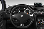 Steering wheel view of a 2014 Peugeot 5008 Allure 5 Door Mini Mpv 2WD.
