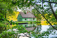 Fischerhaus am Hammersee, Siehdichum, Naturpark Schlaubetal, Oder-Spree, Brandenburg, Deutschland