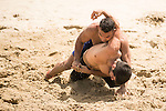 INAM Muhammad of Pakistan fights against SADATITILEHBONI Seyyed Mohammad of Iran during the Beach Wrestling Men's under 90kg Gold Medal on Day Nine of the 5th Asian Beach Games 2016 at Bien Dong Park on 02 October 2016, in Danang, Vietnam. Photo by Marcio Machado / Power Sport Images