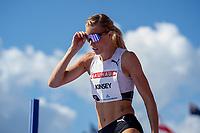 4th July 2021; Stockholm Olympic Stadium, Stockholm, Sweden; Diamond League Grand Prix Athletics, Bauhaus Gala; Erika Kinsley, Swedish high jumper