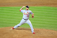 Jun. 13, 2010; Phoenix, AZ, USA; St. Louis Cardinals pitcher Kyle McClellan against the Arizona Diamondbacks at Chase Field. Mandatory Credit: Mark J. Rebilas-