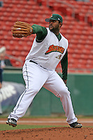 Buffalo Bisons C.C. Sabathia during an International League game at Dunn Tire Park on April 27, 2006 in Buffalo, New York.  (Mike Janes/Four Seam Images)