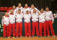 11-sept.-2013,Netherlands, Groningen,  Martini Plaza, Tennis, DavisCup Netherlands-Austria, Austrian Team
