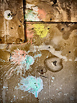 Plaint splatters, ghost town of Beowawe, Nevada