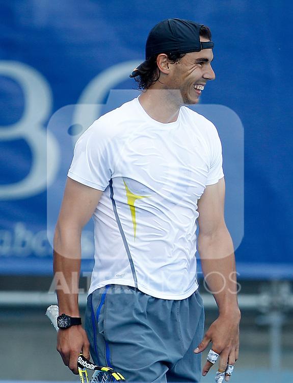 Rafael Nadal in training session during Madrid Open Tennis 2012 Match.May, 9, 2012(ALTERPHOTOS/ALFAQUI/Acero)