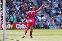 ST PAUL, MN - JULY 18: Stefan Cleveland #30 of the Seattle Sounders FC during a game between Seattle Sounders FC and Minnesota United FC at Allianz Field on July 18, 2021 in St Paul, Minnesota.