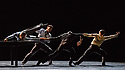 London, UK. 26.06.2018. Nederlands Dans Theater 1 presents a mixed bill at Sadler's Wells theatre, comprising work by Leon & Lightfoot, Pite and Goecke. The piece shown is: THE STATEMENT, by Crystal Pite. The dancers are: Aram Hasler, Rena Narumi, Jon Bond, Roger Van Der Poel. Picture shows: Aram Hasler, Jon Bond, Roger Van der Poel, Rena Narumi. Photograph © Jane Hobson.