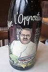 Chef Painted on Wine Bottle, L'Opportun Restaurant, Paris, France, Europe