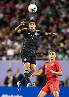 CHICAGO, IL - JULY 7: Raul Jimenez #9 during a game between Mexico and USMNT at Soldiers Field on July 7, 2019 in Chicago, Illinois.