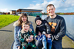 The Daly family enjoying a stroll in the Tralee Bay Wetlands on Sunday, l to r: Jane, Gregory, Kerrisk and Brian Daly.