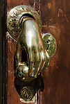 ESP, Spanien, Andalusien, Provinz Cádiz, Arcos de la Frontera: Tuerklopfer | ESP, Spain, Andalusia, Province Cádiz, Arcos de la Frontera: door knocker