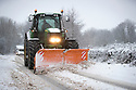 29/12/17<br /> <br /> A tractor with a snow plough clears the A515 near Biggin, Derbyshire.<br /> <br /> All Rights Reserved F Stop Press Ltd. +44 (0)1335 344240 +44 (0)7765 242650  www.fstoppress.com