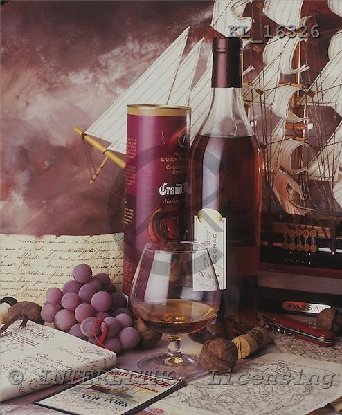 Interlitho, Alberto, STILL LIFES,  photos, bottle, sailing ship, KL16326,#I# Männer, masculino, hombres