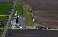 aerial photograph of a Bearcat on  runway 34 of the Williams Soaring Center gliderport, Williams,  Colusa County, Central Valley, California