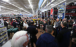 Volunteer shoppers organize before the 11th annual Holiday with a Hero at Walmart in Carson City, Nev., on Wednesday, Dec. 16, 2015. <br /> Photo by Cathleen Allison