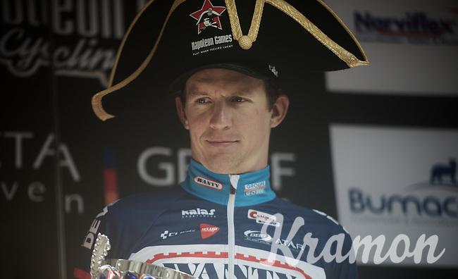 race winner Dimitri Claeys (BEL/Wanty-Groupe Gobert) on the podium<br /> <br /> 50th GP Jef Scherens 2016