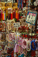 San Francisco, California, USA. Chinatown, Chinese New Year Street Market, Bracelets and Necklaces for Sale.