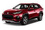 2021 Suzuki Across GLX 5 Door SUV Angular Front automotive stock photos of front three quarter view
