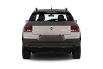 Straight rear view of a 2014 Citroen C4 CACTUS Shine Edition Midnight 5 Door Mini Van 2WD Rear View  stock images