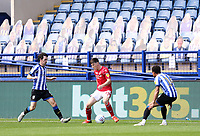 Nottingham Forest's Joe Lolley under pressure from Sheffield Wednesday's Kieran Lee (left) and Jacob Murphy<br /> <br /> Photographer Rich Linley/CameraSport<br /> <br /> The EFL Sky Bet Championship - Sheffield Wednesday v Nottingham Forest - Saturday 20th June 2020 - Hillsborough - Sheffield <br /> <br /> World Copyright © 2020 CameraSport. All rights reserved. 43 Linden Ave. Countesthorpe. Leicester. England. LE8 5PG - Tel: +44 (0) 116 277 4147 - admin@camerasport.com - www.camerasport.com