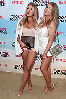 Jessica and Eve Gale<br /> at the 'Too Hot to Handle' season 2 screening, London.<br /> <br /> ©Ash Knotek  D3566 23/06/2021