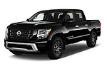 2020 Nissan Titan SV 4 Door Pick-up Angular Front automotive stock photos of front three quarter view