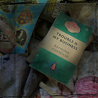 Books and material from abandoned manor house