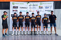 Kiwivelo team. The opening ceremony of the 2021 NZ Cycle Classic UCI Oceania Tour at Mitre 10 Mega in Masterton, New Zealand on Wednesday, 13 January 2021. Photo: Dave Lintott / lintottphoto.co.nz