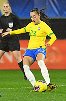 20200304 Valenciennes , France : Brazilian Luana (23)  pictured during the female football game between the national teams of The Netherlands and Brasil on the first matchday of the Tournoi de France 2020 , a prestigious friendly womensoccer tournament in Northern France , on wednesday 4 th March 2020 in the Stade du Hainaut of Valenciennes , France . PHOTO SPORTPIX.BE | DIRK VUYLSTEKE