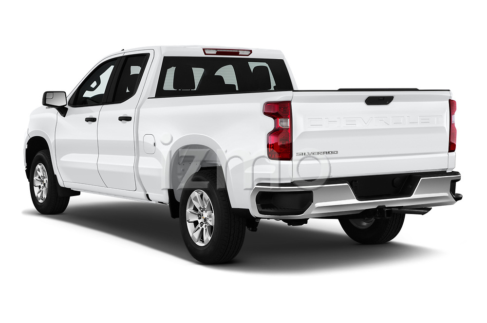 Car pictures of rear three quarter view of 2020 Chevrolet Silverado-1500 WT 4 Door Pick-up Angular Rear
