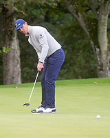 1st October 2021; Kingsbarns Golf Links, Fife, Scotland; European Tour, Alfred Dunhill Links Championship, Second round; Billy Horschel of the USA putts on the eleventh green at Kingsbarns Golf Links