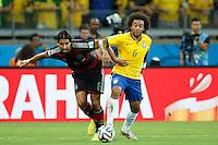 Marcelo of Brazil and Sami Khedira of Germany