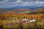 Autumn color at the Bogie Mountain Farm in Barnet, Northeast Kingdom, VT, USA