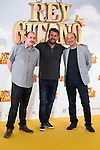 "Actors Karra Elejalde, Arturo Valls and Manuel Manquiña pose during ""Rey Gitano"" film presentation at Palafox Cinemas in Madrid, Spain. July 09, 2015.<br />  (ALTERPHOTOS/BorjaB.Hojas)"