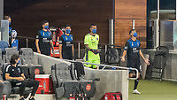 SAN JOSE, CA - SEPTEMBER 05: Chris Wondolowski #8 leads out the team during a game between Colorado Rapids and San Jose Earthquakes at Earthquakes Stadium on September 05, 2020 in San Jose, California.