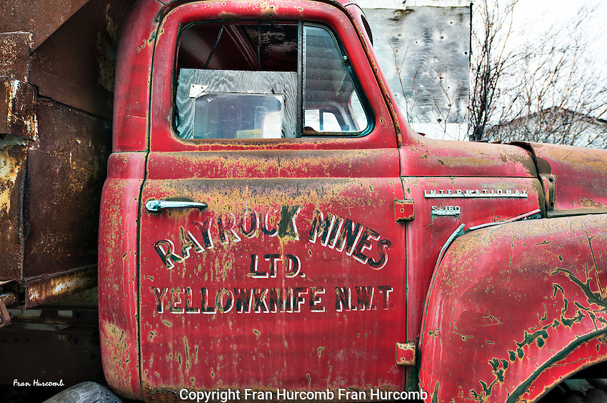 Old truck from Rayrock Yellowknife gold mine Mining