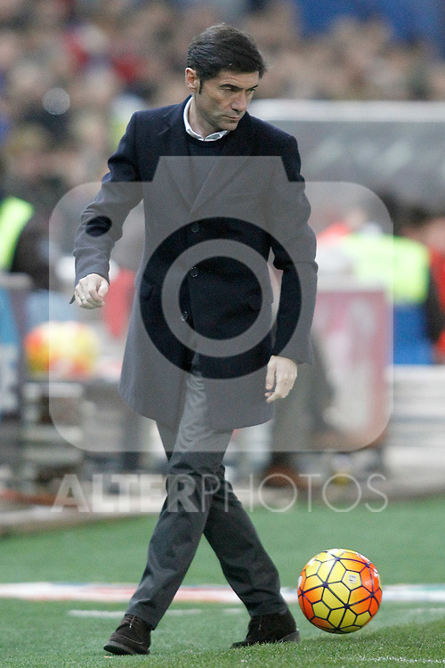 Villareal's coach Marcelino Garcia Toral during La Liga match. February 21,2016. (ALTERPHOTOS/Acero)