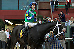 HOT SPRINGS, AR - JANUARY 16: Jockey Channing Hill aboard Uncontested #6 after winning the Smarty Jones Stakes at Oaklawn Park on January 16, 2017 in Hot Springs, Arkansas. (Photo by Justin Manning/Elipse Sportwire/Getty Images)
