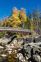 Rocky Gorge Scenic Area and the Swift River,  White Mountains National Forest, New Hampshire, USA.