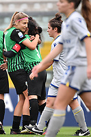 Kamila Dubcova of Sassuolo celebrates with Valeria Pirone after scoring the goal of 1-0 during the women Serie A football match between US Sassuolo and Hellas Verona at Enzo Ricci stadium in Sassuolo (Italy), November 15th, 2020. Photo Andrea Staccioli / Insidefoto