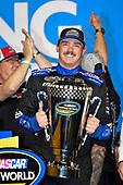 #16: Brett Moffitt, Hattori Racing Enterprises, Toyota Tundra AISIN Group celebrates after winning the championship