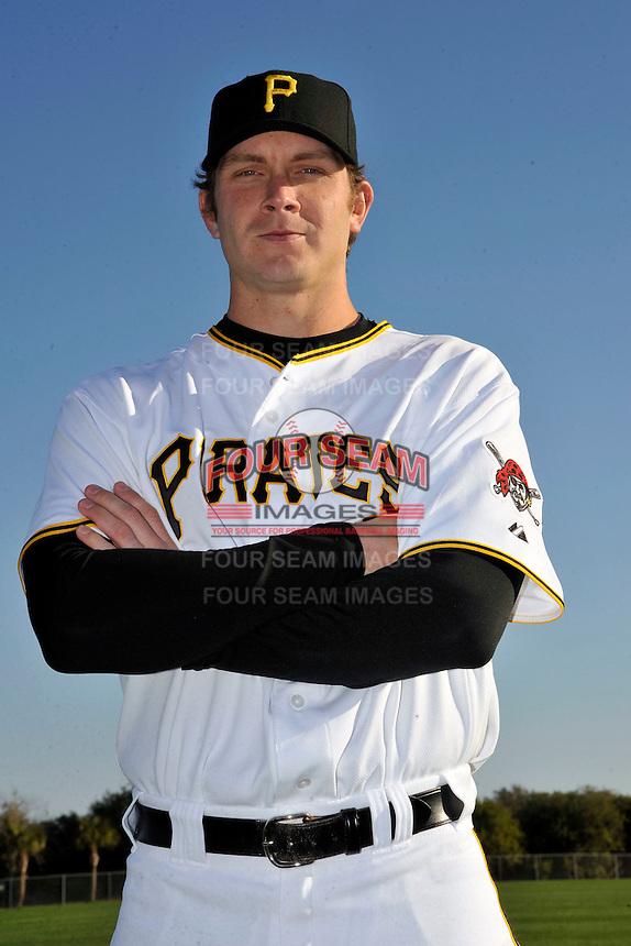 Feb 28, 2010; Bradenton, FL, USA; Pittsburgh Pirates  pitcher Kevin Hart (25) during  photoday at Pirate City. Mandatory Credit: Tomasso De Rosa/ Four Seam Images