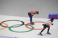 OLYMPIC GAMES: PYEONGCHANG: 10-02-2018, Gangneung Oval, Long Track, 3000m Ladies, Ireen Wüst (NED), Miho Takagi (JPN), ©photo Martin de Jong