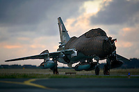 Polish Sukhoi Su22 Fitter of 40 Air Tactical squadron under cover.(SukBOLD AVENGER 2007 (BAR 07), a NATO  air exercise at Ørland Main Air Station, Norway. BAR 07 involved air forces from 13 NATO member nations: Belgium, Canada, the Czech Republic, France, Germany, Greece, Norway, Poland, Romania, Spain, Turkey, the United Kingdom and the United States of America...The exercise was designed to provide training for units in tactical air operations, involving over 100 aircraft, including combat, tanker and airborne early warning aircraft and about 1,450 personnel.